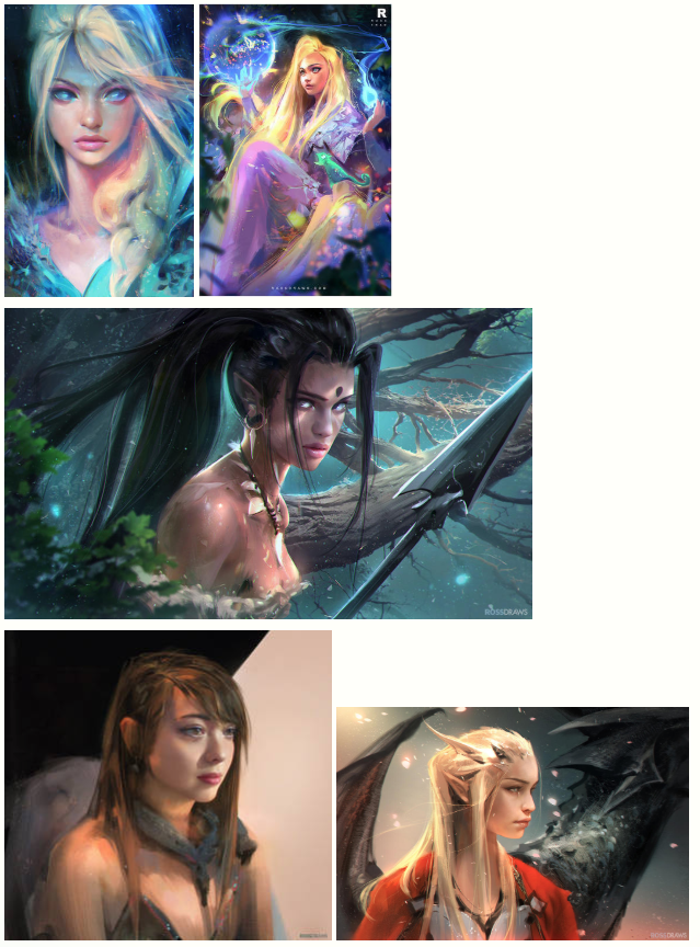 Ross Tran Drawings